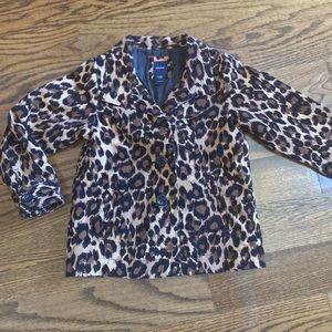 Gap Leopard Print Fall coat, size 5T